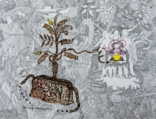 Mixed-media Paintings | Drawing title The Yellow Apple on Fabriano Paper | Artist Avijit Mukherjee