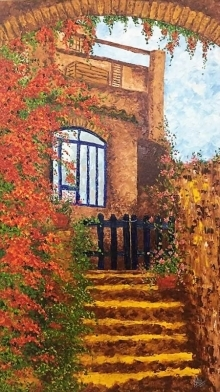 art, painting, oil, canvas, landscape