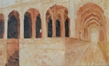 Jaya Javeri | Oil Painting title Rajasthan Fort on Canvas | Artist Jaya Javeri Gallery | ArtZolo.com