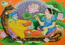 Figurative Acrylic Art Painting title 'Politicians' by artist Ramu Das