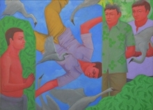 Flying | Painting by artist Partha Mondal | acrylic-oil | Canvas