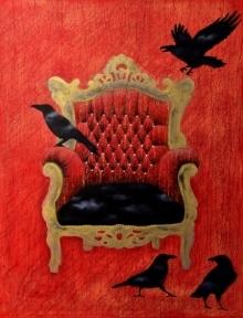 contemporary Mixed-media Art Painting title 'Hegemony' by artist T Raju Gopalarao