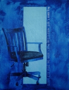 contemporary Acrylic Art Painting title Its My Chance by artist T Raju Gopalarao