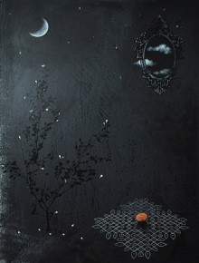 contemporary Mixed-media Art Painting title Its Time For Sprinkling Fragrances 4 by artist Raju T