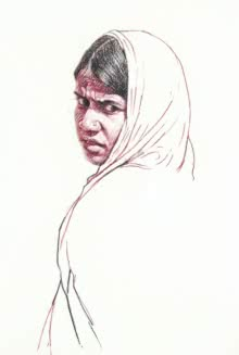 Incredible Tribal Beauty 22 | Drawing by artist Sunil Paraji Tambe | | charcoal | Paper
