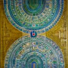 Religious Acrylic Art Painting title Parikrama 2 by artist Madhavi Joshi