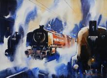 Cityscape Watercolor Art Painting title 'Classic Old II' by artist Ananta Mandal