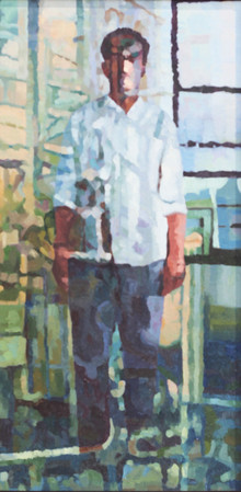 Figurative Oil Art Painting title Within 8 by artist Sameer Gorde