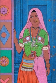 #realistic #figurative #lamani woman #folk costume