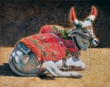 Gopal Nandurkar Paintings | Acrylic Painting - Strength And Elegance by artist Gopal Nandurkar | ArtZolo.com