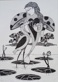 Untitled 1 | Drawing by artist Chandrashekhar Kumavat | | ink | Paper