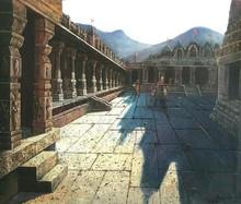 Religious Oil Art Painting title Vitthala Temple Hampi 25 by artist Pravin Pasare