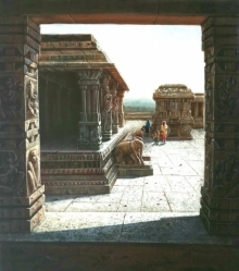 Pravin Pasare | Oil Painting title Vitthala Temple Hampi 8 on Canvas | Artist Pravin Pasare Gallery | ArtZolo.com