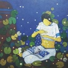 Memory | Painting by artist Sujit Giram | acrylic | Canvas