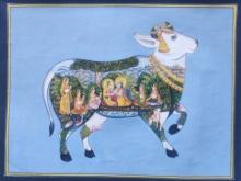 art, tribal art, miniature, cloth, religious