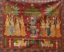 Traditional Indian art title Daanutsav Pichwai on Cloth - Pichwai Paintings