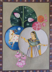 art, tribal art, pichwai, cloth, figurative