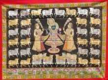 Traditional Indian art title Pichwai 14 on Cloth - Pichwai Paintings