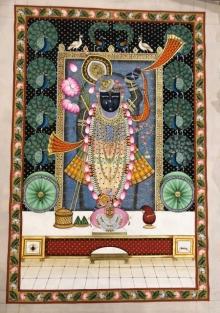 art, traditional, pichwai, silk, religious