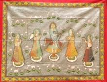Traditional Indian art title Pichwai 16 on Cloth - Pichwai Paintings