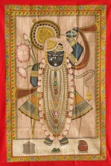Traditional Indian art title Pichwai 17 on Cloth - Pichwai Paintings