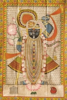 Traditional Indian art title Pichwai 19 on Cloth - Pichwai Paintings