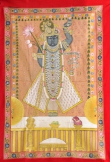 Traditional Indian art title Pichwai 20 on Cloth - Pichwai Paintings