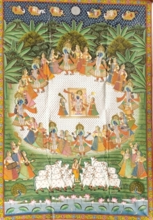 Traditional Indian art title Pichwai 30 on Cloth - Pichwai Paintings