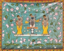 Traditional Indian art title Pichwai 32 on Cloth - Pichwai Paintings