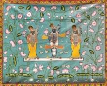 Pichwai Art | Pichwai Traditional art title Pichwai 32 on Cloth | Artist Pichwai Art Gallery | ArtZolo.com