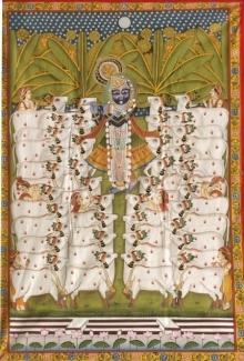 Pichwai Art | Pichwai Traditional art title Pichwai 40 on Cloth | Artist Pichwai Art Gallery | ArtZolo.com