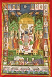 Traditional Indian art title Pichwai 41 on Cloth - Pichwai Paintings