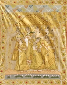 Traditional Indian art title Pichwai 48 on Cloth - Pichwai Paintings