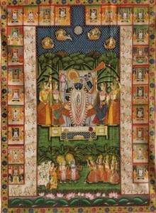 Traditional Indian art title Pichwai 85 on Cloth - Pichwai Paintings