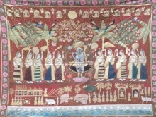 Traditional Indian art title Sharad Purnima In Deccan Style Pichwai on Cloth - Pichwai Paintings