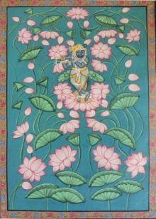 art, traditional art, cloth, pichwai, religious