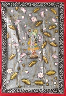 Pichwai Art | Pichwai Traditional art title Yamunaji Pichwai on Cloth | Artist Pichwai Art Gallery | ArtZolo.com
