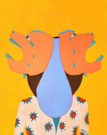 contemporary Acrylic Art Painting title Solitary by artist Shantala Palat