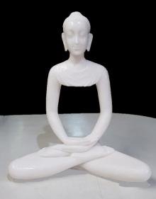 Bhagwan Rampure | Gautama Buddha 2 Sculpture by artist Bhagwan Rampure on Polystone, Marble | ArtZolo.com