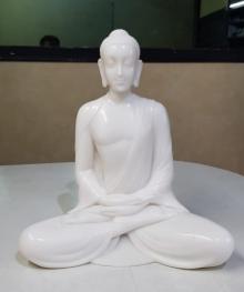 Bhagwan Rampure | Gautama Buddha 3 Sculpture by artist Bhagwan Rampure on Polystone, Marble | ArtZolo.com