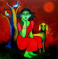 Sharmi Dey | Acrylic Painting title Magical land on Canvas | Artist Sharmi Dey Gallery | ArtZolo.com