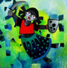 Yuvakumari | Painting by artist Sharmi Dey | acrylic | Canvas