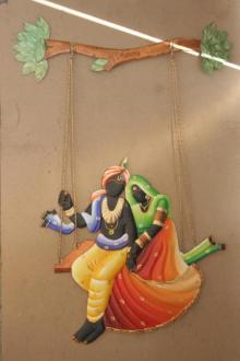 Nitesh | Krishna Radha Jhoola 2 Craft Craft by artist Nitesh | Indian Handicraft | ArtZolo.com
