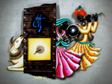Nitesh | Rajasthani Wall Clock Craft Craft by artist Nitesh | Indian Handicraft | ArtZolo.com