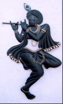 Black Krishna | Craft by artist Handicrafts | Wrought Iron