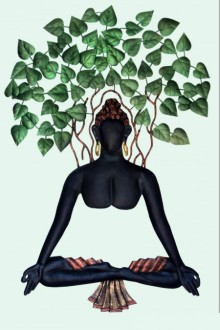 Buddha With A Tree | Craft by artist Handicrafts | Wrought Iron