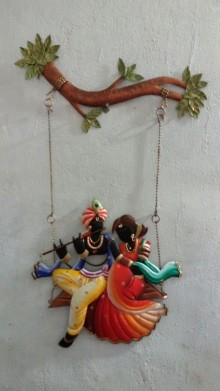 Krishna Radha Jhoola IV | Craft by artist Handicrafts | Wrought Iron