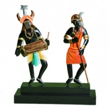 Nitesh | Tribal Dancing Panel Craft Craft by artist Nitesh | Indian Handicraft | ArtZolo.com