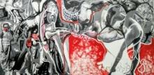 contemporary Acrylic Art Painting title Repress Reproduce Repeat by artist Rasana Bhardwaj