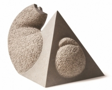 Basalt Stone Sculpture titled 'Cat 15' by artist Prashant Bangal